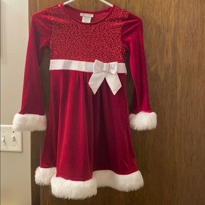 Red and white Christmas dress